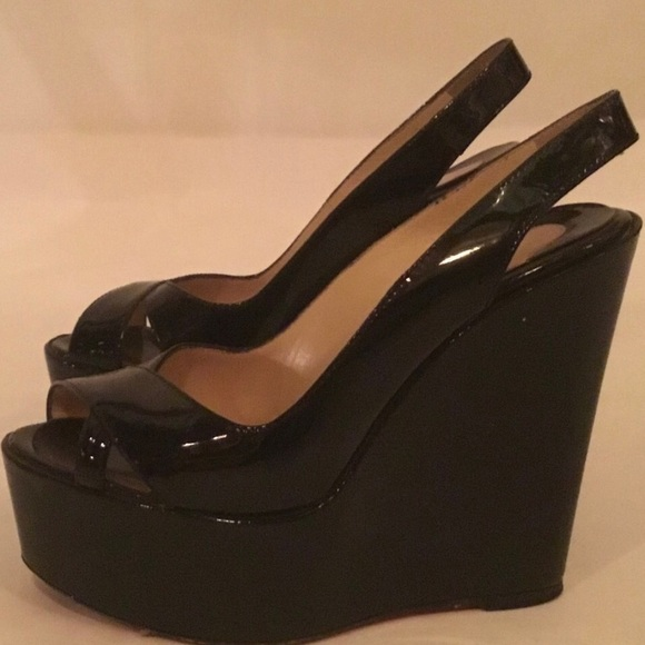 0d813932a35 PREOWNED 'Christian Louboutin'Black Patent Wedge 6